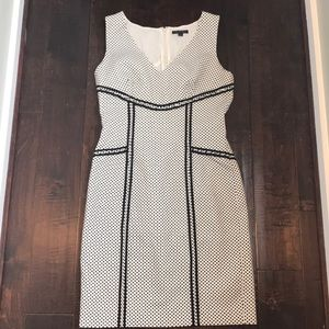 RACHEL ZOE White black dot dress Sz 10